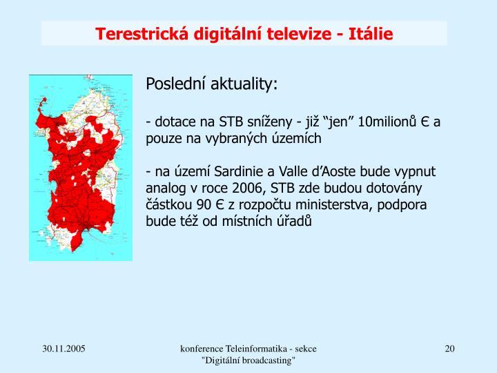 Terestrická digitální televize - Itálie