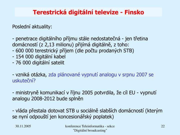 Terestrická digitální televize - Finsko