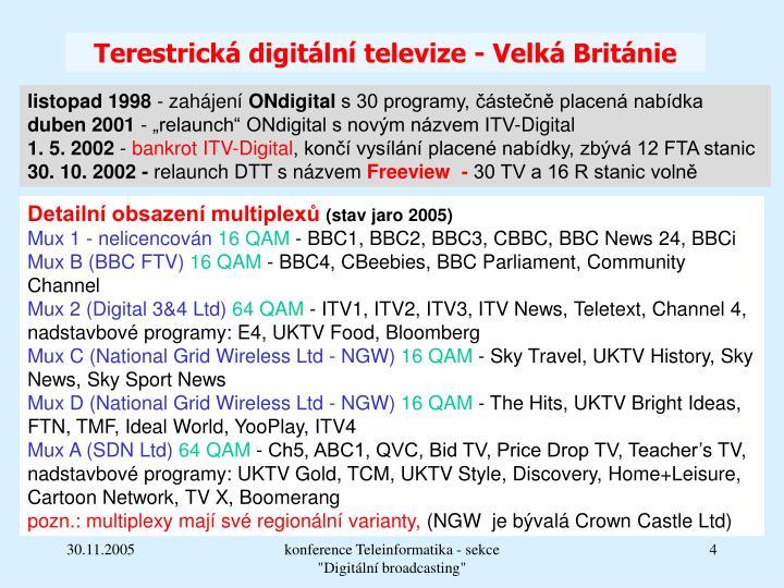 Terestrická digitální televize - Velká Británie