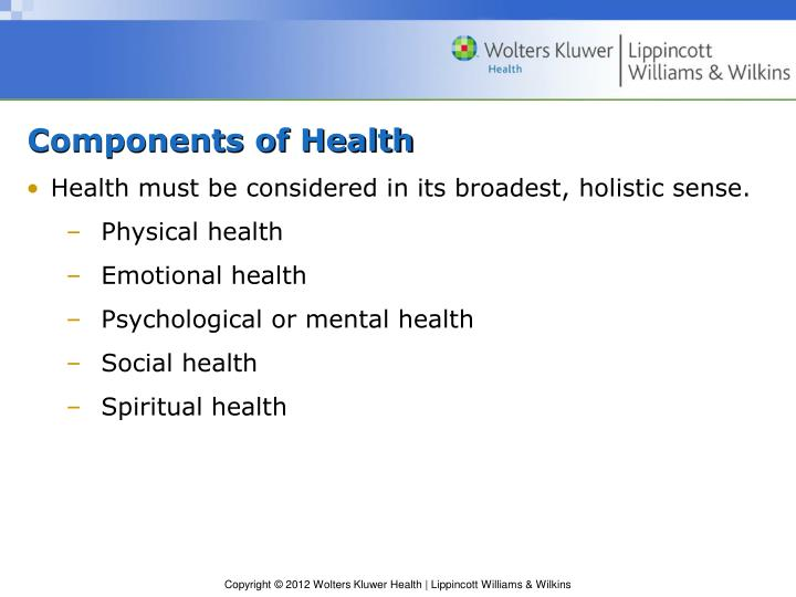 Components of Health