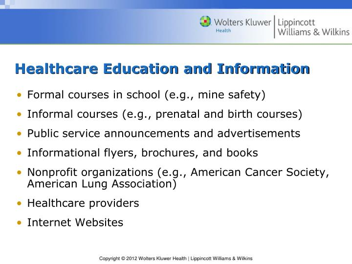 Healthcare Education and Information