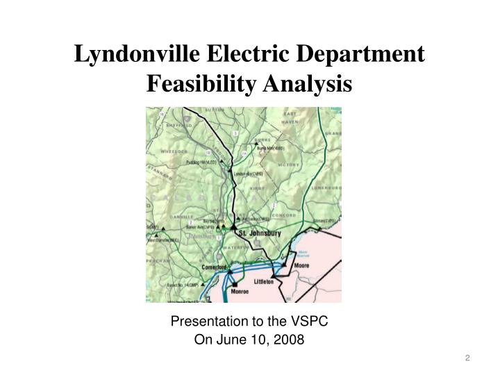 Lyndonville Electric Department Feasibility Analysis