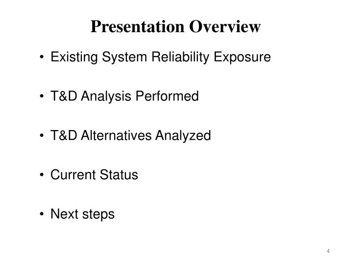 Existing System Reliability Exposure