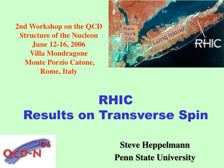 Rhic results on transverse spin