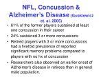 nfl concussion alzheimer s disease guskiewicz et al 2005