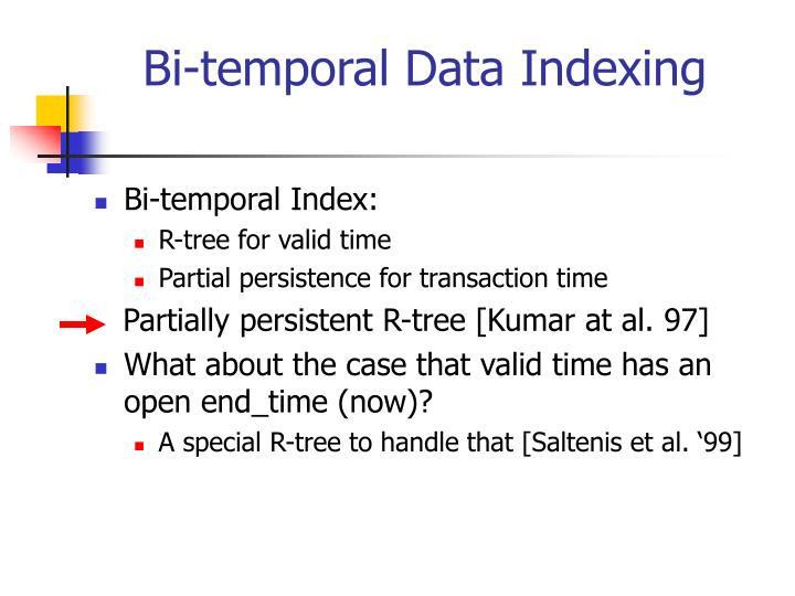 Bi-temporal Data Indexing