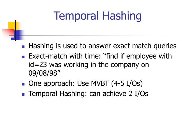 Temporal Hashing