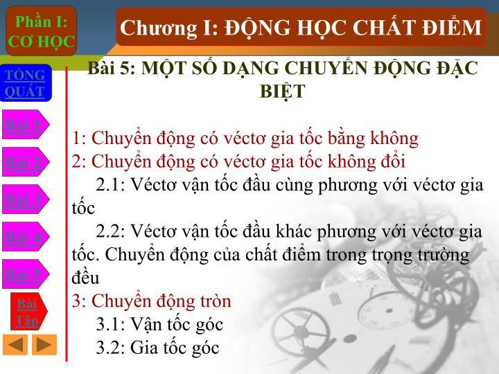 Bi 5: MT S DNG CHUYN NG C BIT