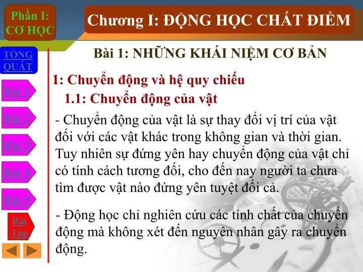 Bi 1: NHNG KHI NIM C BN
