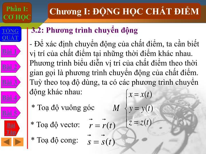 3.2: Phng trnh chuyn ng