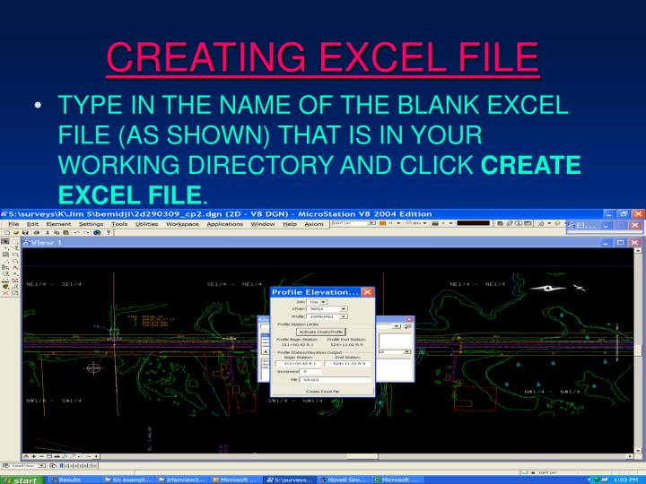 CREATING EXCEL FILE