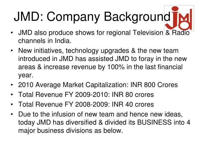 Jmd company background1