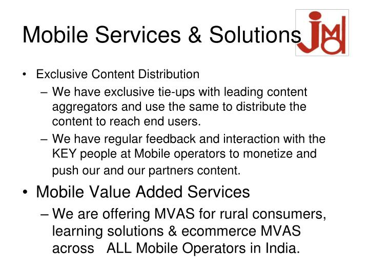Mobile Services & Solutions