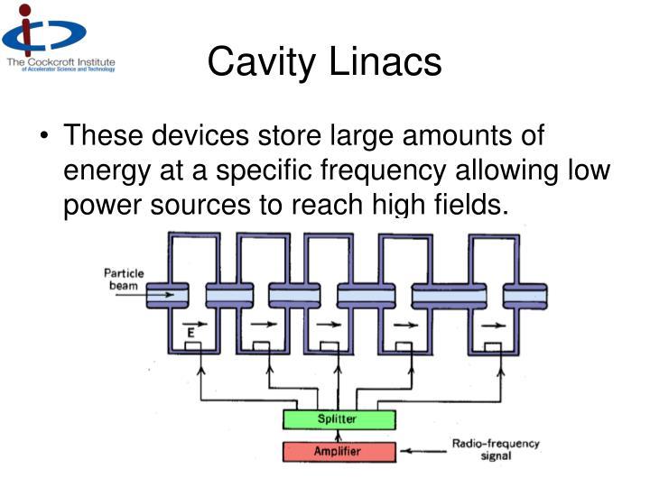Cavity Linacs