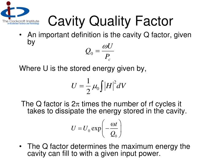 Cavity Quality Factor