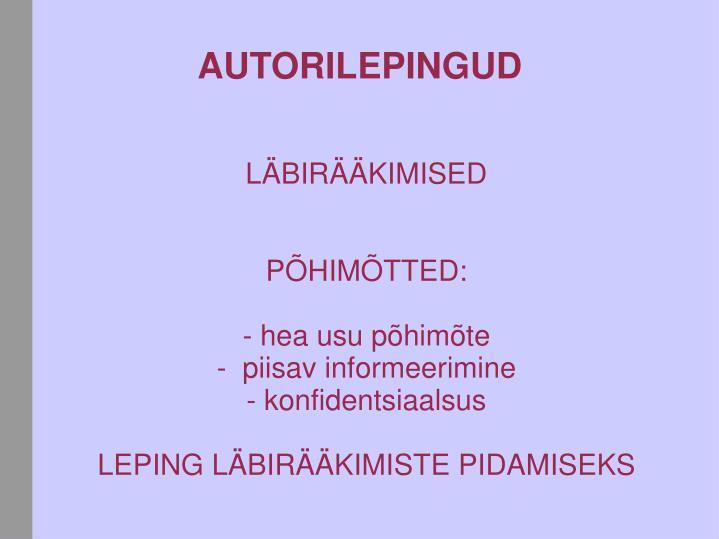 LÄBIRÄÄKIMISED