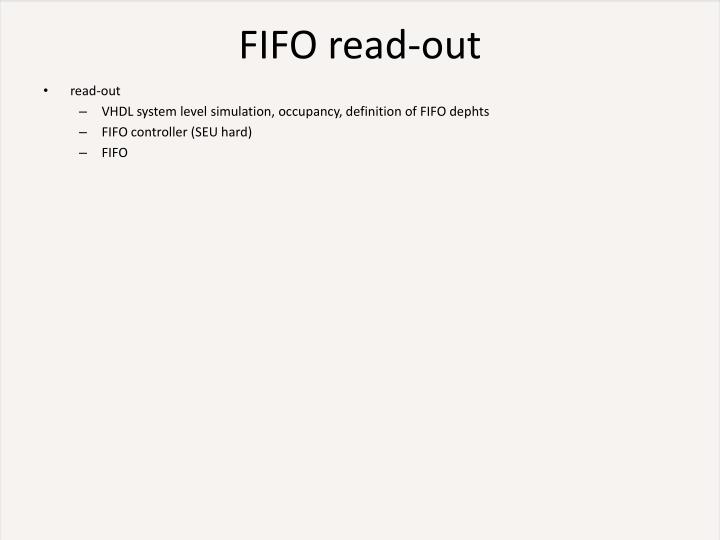 FIFO read-out