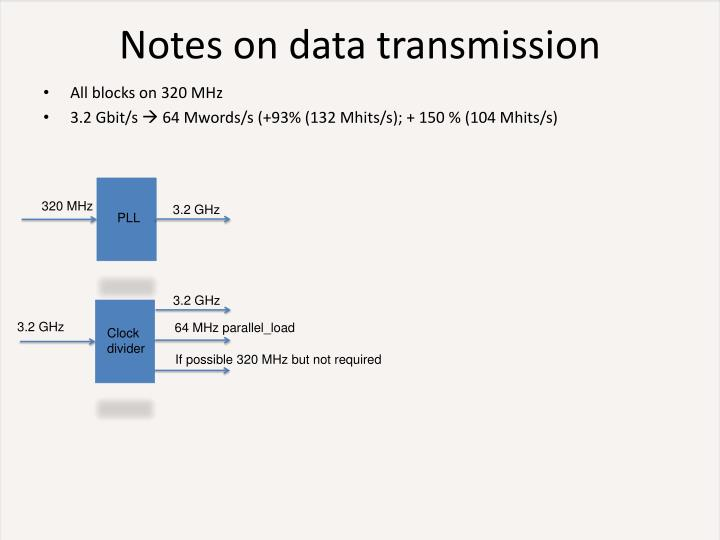 Notes on data transmission