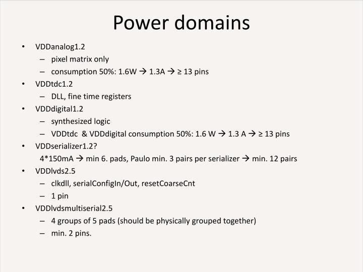 Power domains