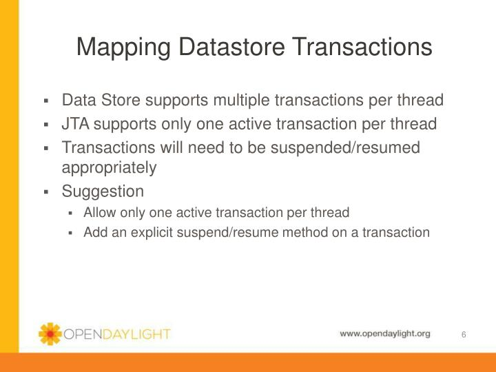 Mapping Datastore Transactions