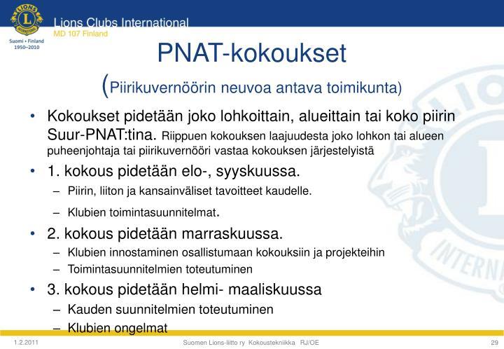 PNAT-kokoukset