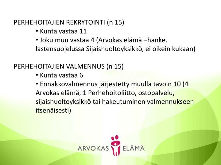 PERHEHOITAJIEN REKRYTOINTI (n 15)