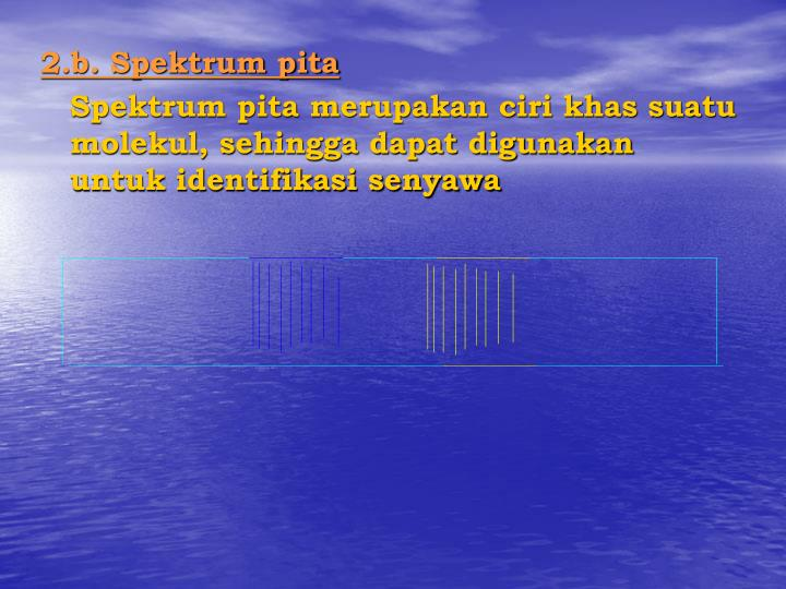 2.b. Spektrum pita
