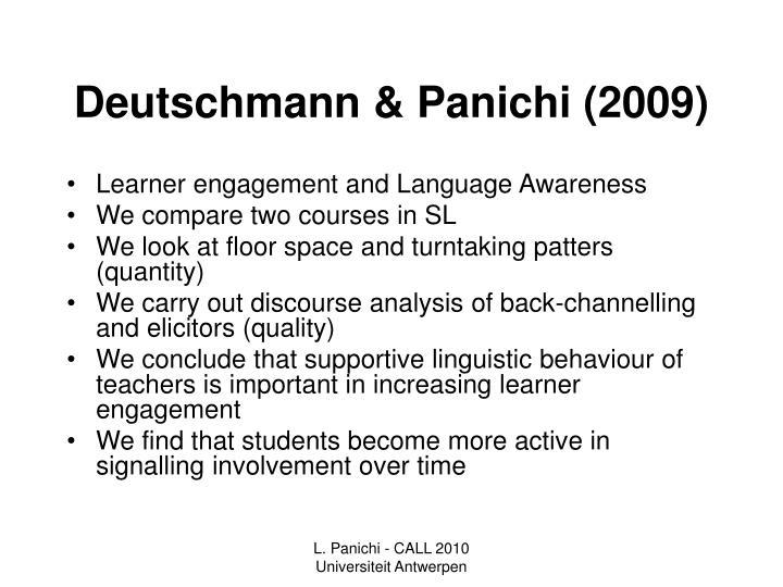 Deutschmann & Panichi (2009)