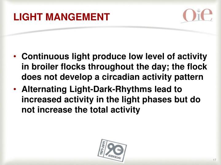 LIGHT MANGEMENT