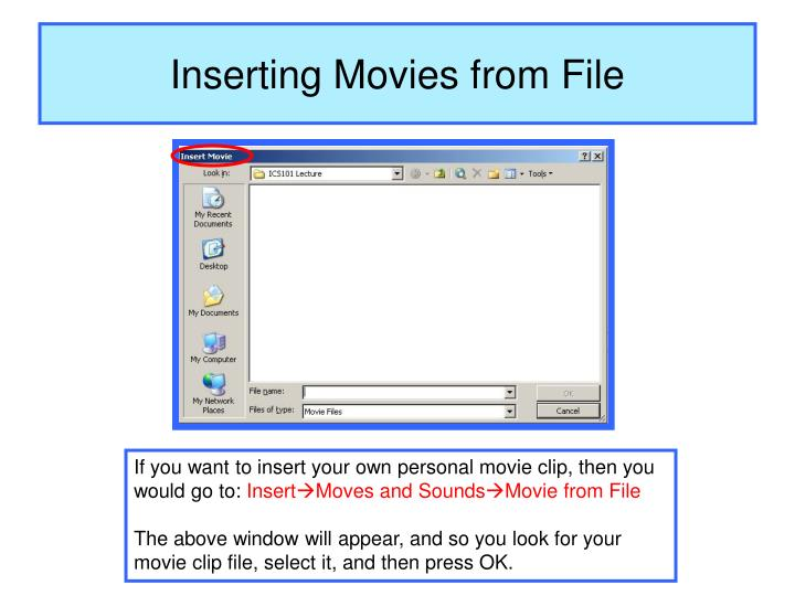 Inserting Movies from File