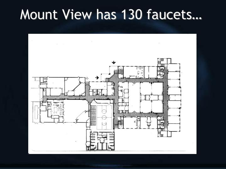 Mount View has 130 faucets…