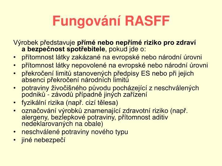 Fungování RASFF