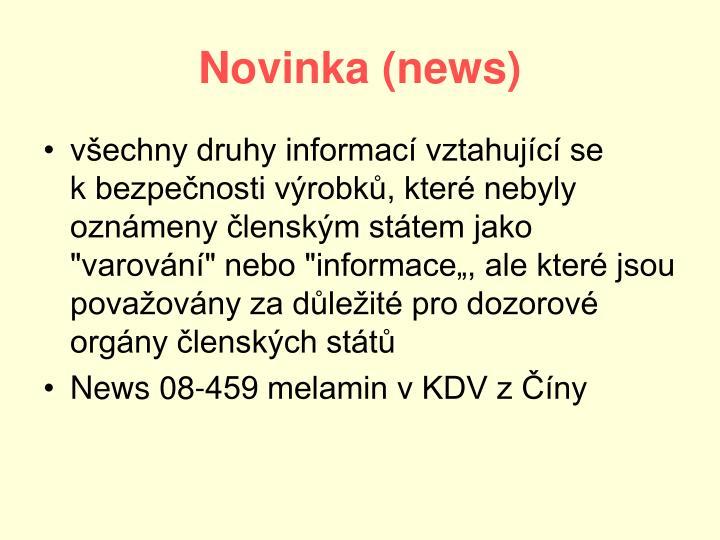 Novinka (news)