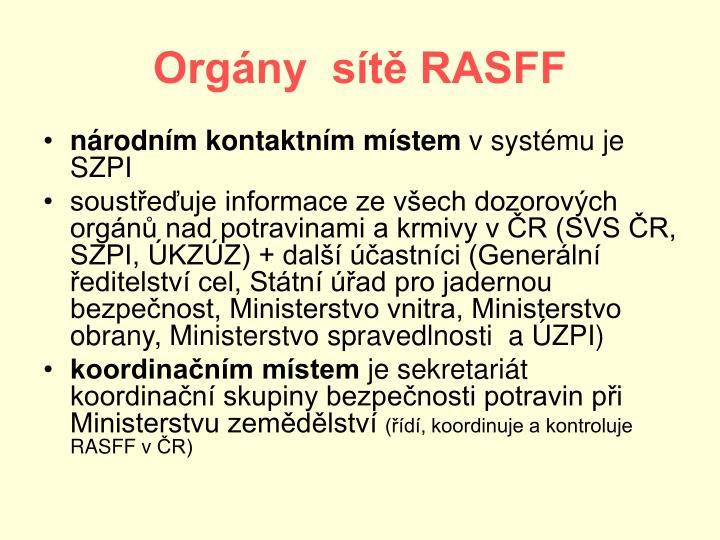 Orgány  sítě RASFF
