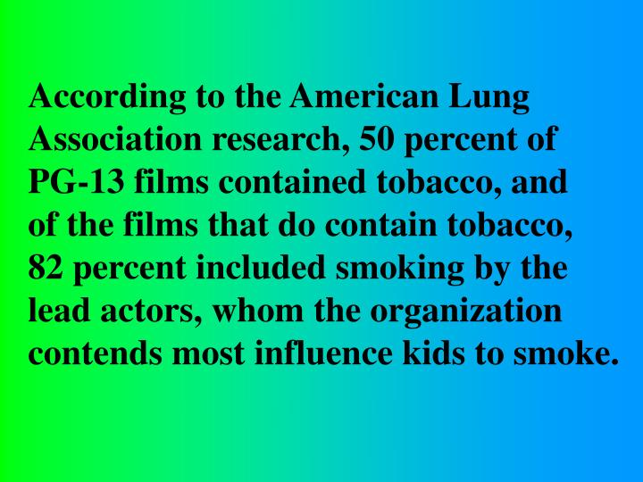 According to the American Lung