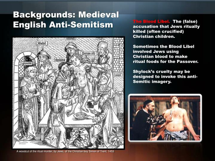 Backgrounds medieval english anti semitism