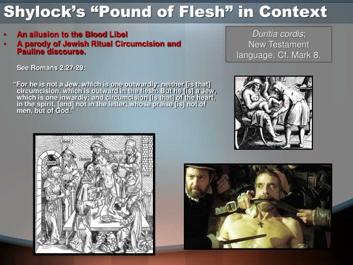"Shylock's ""Pound of Flesh"" in Context"