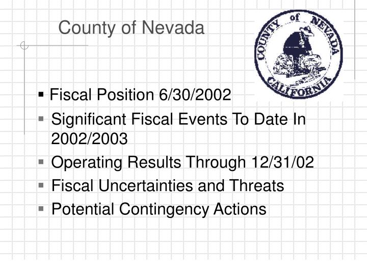 County of nevada1