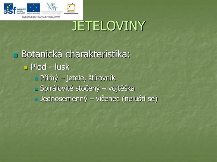 JETELOVINY