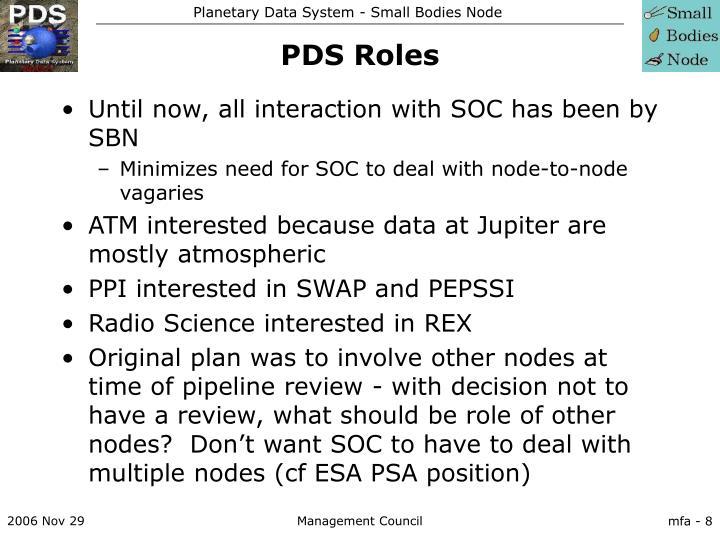 PDS Roles