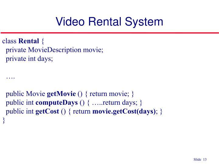 Video Rental System