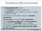 equilibrium electrochemistry1