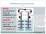 half reactions and electrodes1