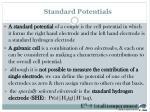standard potentials
