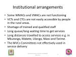 institutional arrangements1