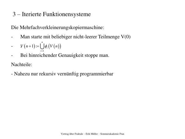 3 – Iterierte Funktionensysteme