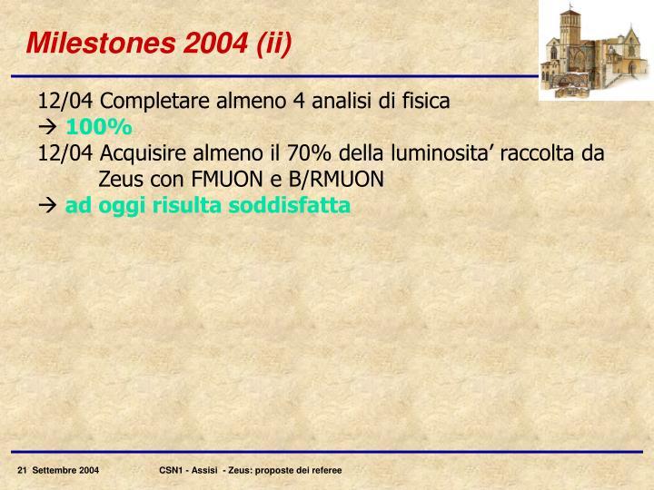 Milestones 2004 (ii)