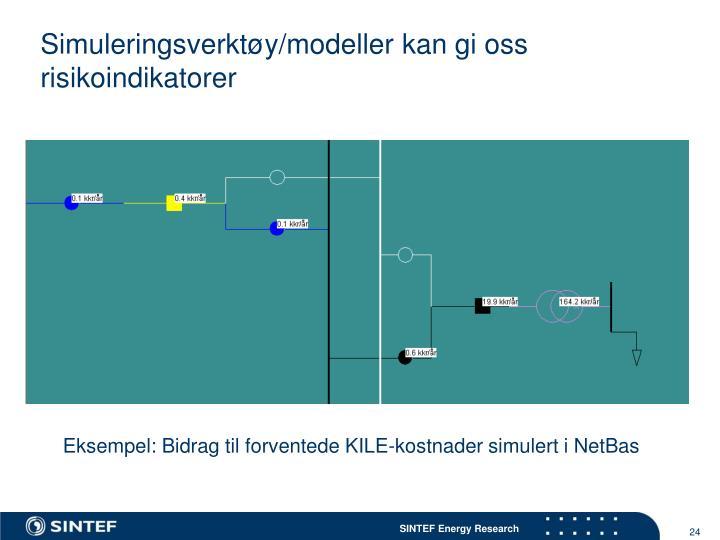 Simuleringsverktøy/modeller kan gi oss risikoindikatorer