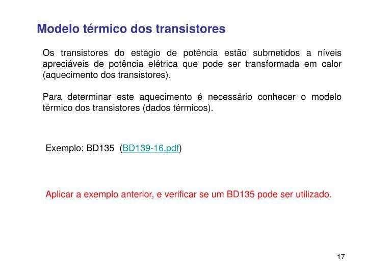 Modelo térmico dos transistores