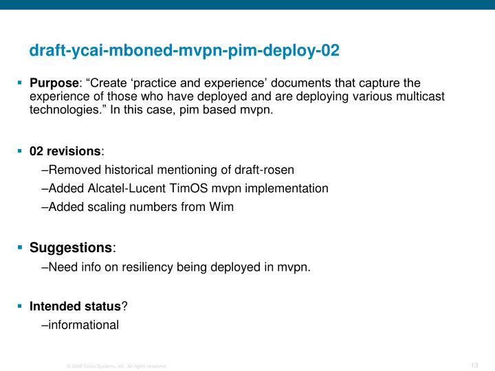 draft-ycai-mboned-mvpn-pim-deploy-02